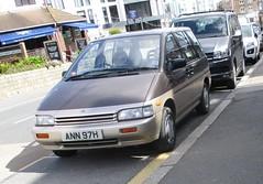 Nissan Prairie #1 (occama) Tags: ann97h 1991 nissan prairie old rare japanese car cornwall uk bronze mpv
