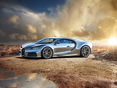 Chrome Chiron (Nike_747) Tags: naksphotographydsign chrome chiron bugatti goldplatedrims supercar hypercar super hyper car sportscar sport class exotic rare luxury color auto limited edition exclusive carbonchrome special paint oneofone desert rocks mountains sky clouds sun sunset reflection water dust sand coupe roadster w16 w 16 allwheeldrive quad turbocharged