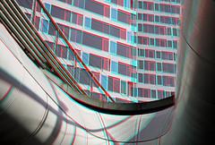 Den Haag 3D (wim hoppenbrouwers) Tags: denhaag 3d anaglyph stereo redcyan annavanbuerengebouw building trambaan thehague