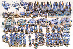 Ultramarines_Final_Army_Overview (Mineraleater) Tags: warhammer40k space marine ultr ultramarnie spacemarine chapter company armory