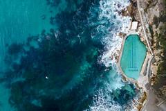 Australia - Bronte sunrise aerial_2048 (sadaiche (Peter Franc)) Tags: bronte sydney australia drone aerial beach baths rocks ocean rockpool rockpools swim swimming paddleboarding