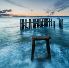 Old Pier, Granton (Simon Wootton) Tags: edinburgh midlothiansunset sea water granton seascape landscape oldpier rundown beatenup derelict midlothian scotland