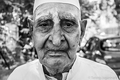 People on the road - 365 Portrait Project - Day 108 (Tarang Jagannath) Tags: 365portrait face blackandwhite portrait oldpeople human wrinkles bw