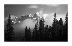 Castle Mountain, Banff National Park (Joe Franklin Photography) Tags: castlemountain canada banffnationalpark blackandwhite almostanything mainranges bowvalley