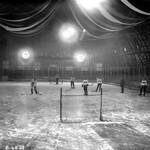 Hockey practice at Thistle Rink, Edmonton thumbnail
