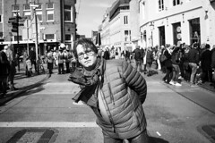 Oh hello there! (GESODEMIETER) Tags: black white blackandwhite mono street monochrome streets streetphotography people public pedestrians