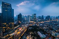 Jakarta's lights (Erwin Mulyadi) Tags: cityscape nightscape city night skyscrapper building high wideangle