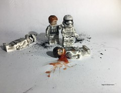 Lego Star Wars First Order Soldier Tragedy (lego3130starwars) (lego3130starwars) Tags: starwars star wars lego lego3130starwars tragedy clone trooper soldier private first order empire galaxy photo battle after aftermath