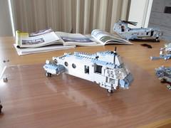 Boeing CH-46E Sea Knight WIP, 17th of April (Mad physicist) Tags: boeing ch46e sea knight wip lego helicopter workinprogress