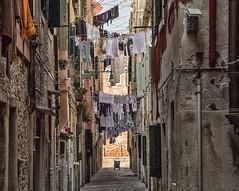 Back street (V Photography and Art) Tags: backstreet washingline walls facade venice italy narrowstreet