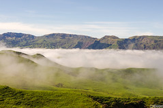 Fog amongst Hills (smellerbee) Tags: newzealand nz taupo napier roadtrip landscape hills fog mountains sky blue green colour color digital pentax pentaxkr 2017