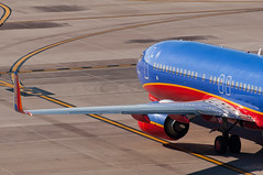 13-8466 (George Hamlin) Tags: arizona phoenix sky harbor international airport phx southwest airlines wn boeing 737800 jet aircraft airliner airplane n8301j ramp guidelines winglet photo decor george hamlin photography