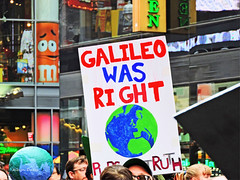 Earth Day NYC-8 (albyn.davis) Tags: nyc newyorkcity march demonstration politics sign broadway colors colorful bright vivid vibrant people crowd protest red blue buildings