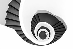 Just a spiral staircase (Blende4.0) Tags: spiral staircase stair stairs black white monochrome wetzlar leica architecture