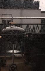 Waiting for summer (Ducatisto) Tags: eos 650d canon grill bbq rain weather wetter regen regenwetter regentropfen glas scheibe fenster