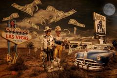 'Viva las Vegas' (brian_stoddart) Tags: las vegas colour car composite desert building statue