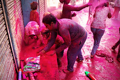Pink (alfieianni.com) Tags: holi holifestival festival color vrindavan mathura india people fun street life streetphotography travel travelphotography