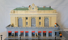 Grand Central Terminal (ish) (| MolochBaal ⟩) Tags: lego minifig diorama ny new york manhattan central terminal station trains
