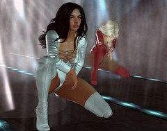 in the spotlights .. (Larah Sa'fir) Tags: dancers spotlights stage sexy girls