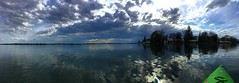 (annikkiharris) Tags: panorama storm sunlight clouds iphone outdoors outdoor outside river water kayak kayaking