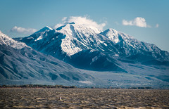 Looking south from Utah Lake State Park (joshhansenmillenium) Tags: nikon d5500 photography tamron 18200mm crystal ball utah lake state park ensign peak salt city hiking nature water waves sunsets mountains sunset layers provo adventure capitol building island reflections refractions