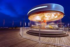 Ride The Twilight (Amiros89) Tags: twilight telaviv tel aviv spinning ride evening long exposure port israel spin amusement park theme fun rides