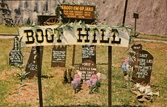Boot Hill Cemetery, Frontier City USA, Oklahoma City (SwellMap) Tags: vintage advertising death pc fight 60s dummies fifties postcard kitsch retro prison nostalgia crime chrome jail torture western violence amusementpark americana deathvalley 50s tacky roadside dummy convict themepark sixties frontier midcentury prisoners oldwest frontiertown effigies waxmueum