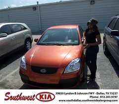 Southwest Kia of Dallas would like to wish a Happy Anniversary to Noretta Johnson on your 2008 Kia Rio (Southwest Kia Dallas) Tags: new southwest car sedan truck wagon happy dallas texas tx used vehicles mesquite bday dfw kia van suv coupe rockwall dealership hatchback dealer customers minvan 4dr metroplex shouts 2dr preowned