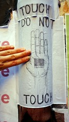 do not touch- couldnt help it (nickyxmakes) Tags: pasteup hands cbd melbournestreetart duckboardlane
