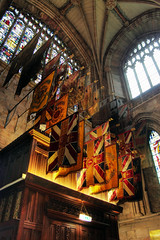 Lichfield Flags (8mm & Other Stuff) Tags: 3 church window contrast canon lens mask cathedral shots south ps flags elements ten and kit 1855mm showing staffordshire hdr levels adjustment unsharp merged lichfield regiment the in transept photomatix 600d jepg of