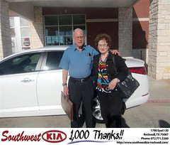 Southwest KIA of Rockwall would like to say Congratulations to Alma Dunn on the 2013 Kia Optima (Southwest Kia Rockwall) Tags: new southwest car sedan truck wagon happy dallas texas tx used vehicles mesquite bday dfw kia van suv coupe rockwall dealership hatchback dealer customers minvan 4dr metroplex shouts 2dr preowned