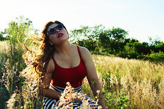 METAMORPHOSIS (Enrique McArio) Tags: red portrait girl beauty fashion landscape photography glasses stripes sony makeup alpha plain metamorphosis mcario
