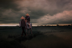 Take Me Away (iDruz A) Tags: travel light people urban green art nature clouds digital canon painting indonesia landscape photography fight asia magic fineart surreal farmer ricefield artphoto rurallife magicalart canvasphoto