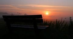 foggy sunrise (1) (HansHolt) Tags: sun mist fog sunrise bench drops bank dew hoogeveen zon dauw zonsopgang druppels canonef24105mmf4lisusm canoneos6d oudekene