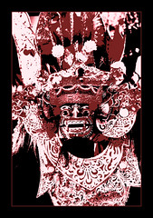 Barong Print (Triple_B_Photography) Tags: world travel vacation bali holiday tourism animal closeup contrast altered canon dark print indonesia asian temple eos costume energy asia experimental power conversion mask zoom vibrant teeth traditional religion pray creative culture tourist blessing elements tropical destination mystical hindu hinduism emotions enhanced adjustment alternative cultural edit balinese lokal convert 500d elementsorganizer
