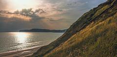 Leaving Compton Bay (pollylew) Tags: sea sky sunlight beach seaside isleofwight comptonbay