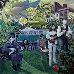 The Beatles, Mystery of love (Spoke Art Gallery) Tags: painting losangeles movies popculture thebeatles spokeart thinkspace beyondeden sergegayjr spokeartgallery beyondeden2013