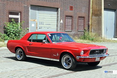 1968 Ford Mustang (Georg Sander) Tags: pictures auto old red wallpaper rot classic cars ford car photo automobile foto image photos alt picture mobil images pony fotos vehicle oldtimer 1968 autos mustang bild bilder automobil