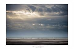 walking before the storm (Emmanuel DEPARIS) Tags: sea france beach de pas emmanuel calais nord deparis