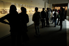 History - Holocaust Memorial - Berlin (PascalBo) Tags: people berlin museum germany nikon europe capital muse indoors capitale allemagne holocaustmemorial petereisenman holocaustmahnmal d300 mmorialdelholocauste pascalboegli