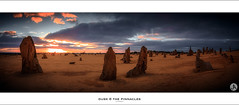 Dusk at the Pinnacles - WA (John_Armytage) Tags: sunset panorama sand rocks desert dusk pano australia panoramic textures perth wa cervantes westernaustralia pinnacles thepinnacles novaflex canon5d3 sigma35mmf14dgusm
