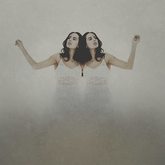 Until The End (KaLee Kilgrow photography) Tags: art digital photoshop canon photography photo twins model photographer fineart surreal manipulation double dual conceptual dslr kalee untiltheend kilgrow texturebybrookeshaden