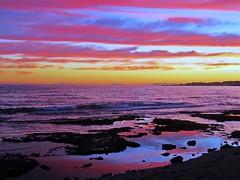 Nubes paralelas (Antonio Chacon) Tags: sunset espaa atardecer mar spain europe day cloudy photos andalucia nubes costadelsol puestadesol mlaga marbella