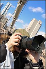 NYC74 (FirehawkNS) Tags: nyc newyorkcity engagement nikon brooklynbridge engaged photog takingaim