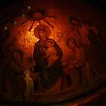 Klosterkirche  Maria - Laach: Seitenaltar Wandgemälde: Maria mit Jesuskind thumbnail