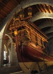 Royal galley in Museu Maritim of Barcelona (Sokleine) Tags: barcelona museum boat spain catalonia musée espana maritime bateau espagne barcelone galley galère catalogne museumaritim