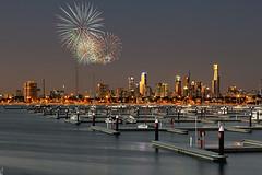 IMG_4396 (erikhiker) Tags: nightphotography cityscape fireworks australia melbourne cbd stkilda