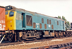 25072 (marcus.45111) Tags: train rat 1987 railway depot preserved britishrail withdrawn toton 25072 brblue ukrailway class25 caledonianrailway ukbuilt classictraction