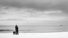 On the beach (orhan4ak) Tags: winter bw beach blacksea varna  sekonicl308s