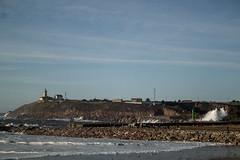 Olas entrando por la ria (Dawlad Ast) Tags: de mar san juan asturias playa salinas aviles olas febrero ria temporal 2014 cantabrico nieva